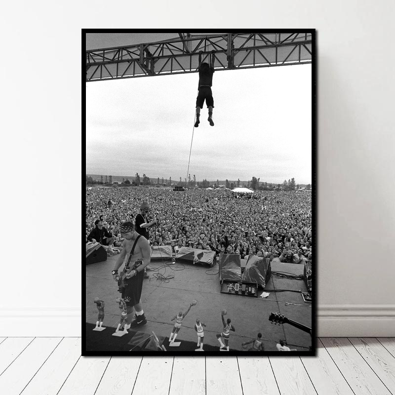 Pearl Jam Photo Poster Art Canvas Art Print Wall Pictures For Living Room No Frame