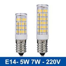 Mini E14 LED Lamp 5W 7W LED Light SMD2835 Bombillas LED Bulb Chandelier Pendant Refrigerator Corn Light Replace Halogen Lamps