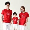 Família moda cultivar amor família correspondência de manga curta roupas roupas para mãe e filha pai filho