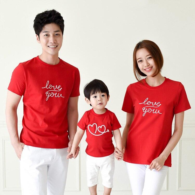 6b5e501202 Family Fashion cultivate Love Summer Short sleeve T shirt Matching ...