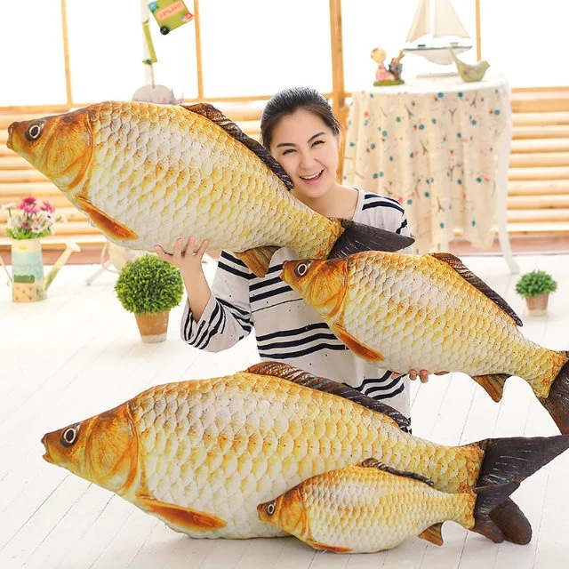 1pc 20-80Cm Simulation Carp Plush Toys Staffed Soft Animal Fish Plush Pillow Creative Sofa Pillow Cushion Gift Kids Toy