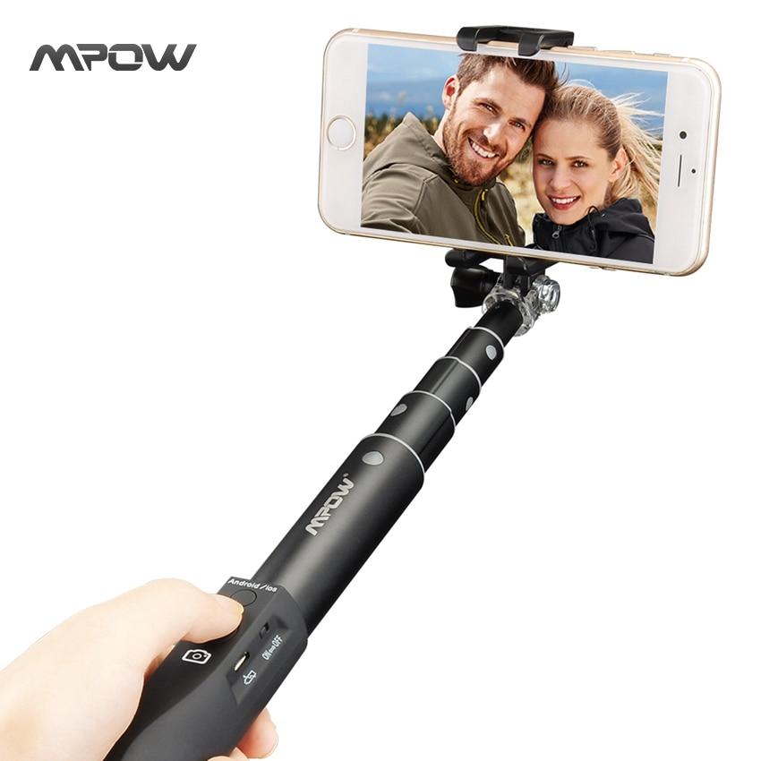 buy mpow mbt15b selfie stick bluetooth extendable adjustable aluminum monopod. Black Bedroom Furniture Sets. Home Design Ideas