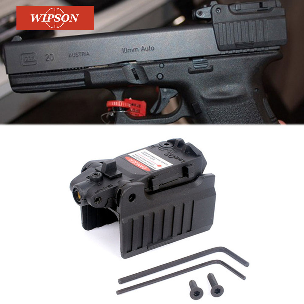 WIPSON Tactical Glock Laser Sight Rear Red Laser Aiming Fit Airsoft Glock 17 18C 19 22 23 25 26 27 28 31 32 33 34 35 37-0