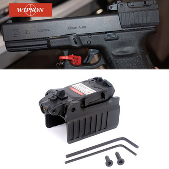 WIPSON Tactical Glock Laser Sight Rear Red Laser Aiming Fit Airsoft Glock 17 18C 19 22 23 25 26 27 28 31 32 33 34 35 37