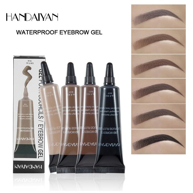 c6377631a HANDAIYAN New Arrivals Professional Eyebrow Gel 6 Colors High Brow Tint  Makeup Eyebrow Brown Eyebrow Gel With Brow Brush Tools