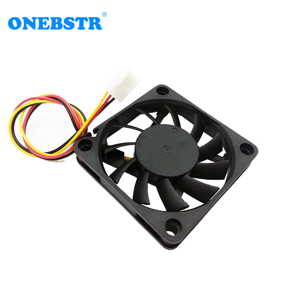 6010 Brushless Fan DC12V 0.16A 60X60X10mm Fan True 3 PIN Small Power Supply 6cm 60mm Cooling Fan Wire Length 180mm Free Shipping