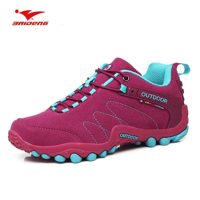 73c8c9f98da US $25.71 34% OFF Baideng Outdoor Sports Shoes For Couple Men Women  Waterproof Hiking Trekking Shoes Anti skid Mountain Climbing Camping  Sneakers-in ...