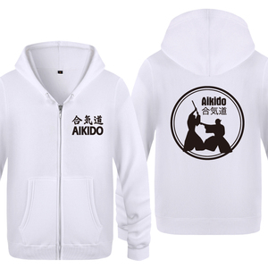 Image 2 - Aikido 크리 에이 티브 참신 후드 남자 2018 남자 양 털 지퍼 카디 건 후드 티 스웨터