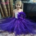 Nuevo 2017 del Bebé Tul Vestido de dama de Honor Niña de las Flores Vestido de Boda Mullido Tutu Vestido de Fiesta de Cumpleaños Vestido de Bola de Noche de Baile
