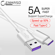 USB 5A Super Fast Charging Type C Cable for Samsung S9 S8 for HUAWEI P20 Mate 9 10 20 X Pro For Xiaomi USB C Mobile Phone Cable(China)