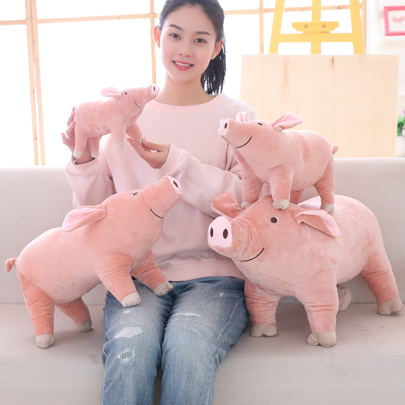 Plush Toys Pig 25cm 40  60 Cm Pink Light Cute Mini Soft Stuffed Animals Plush Toy For Children Year Of The Pig Sofa Pillow Home