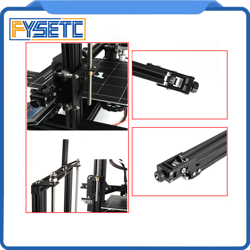 1Set Complete 3D Printer Parts Aluminum Profile X axis Y axis Dual Z axi Synchronous Belt