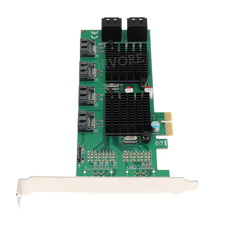PCI E to 8 Ports SATA 3 0 6Gb s Expansion Card 88SE9215 9705 Chipset for