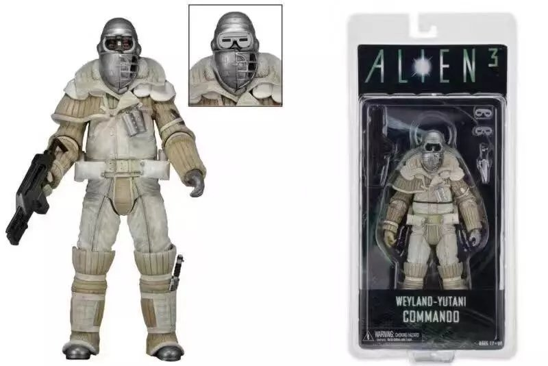 NECA Alien vs. Predator Alien 3 Weyland-Yutani Commando Action Figure PVC Collectible Model Toy neca alien lambert compression suit aliens defiance xenomorph warrior alien pvc action figure collectible model toy 18cm