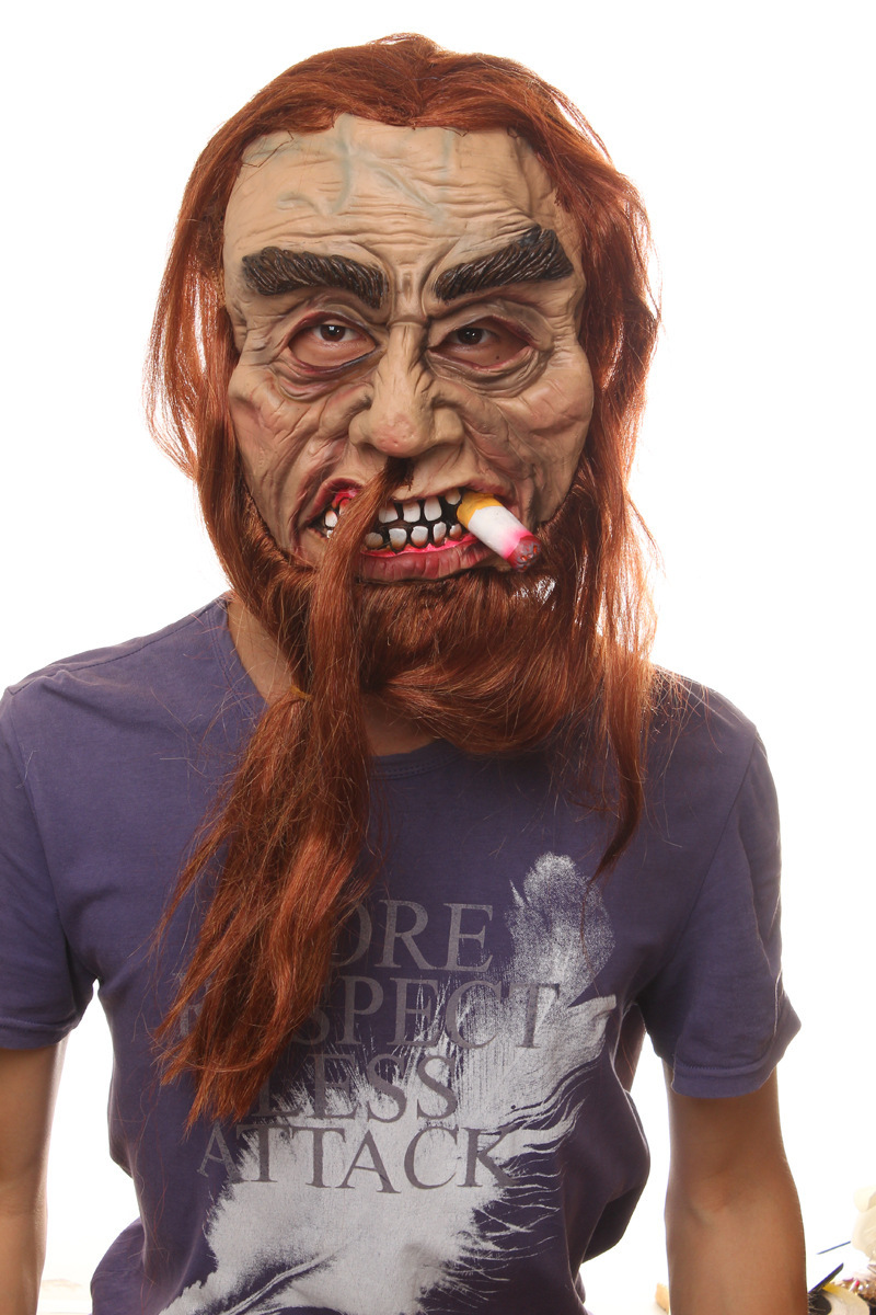 Online Buy Wholesale latex mask with hair halloween mask free ...