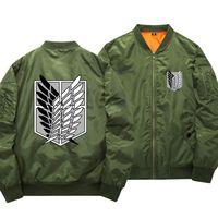 Attack On Titan Men Coats attack Cosplay bomber jacket Spring Baseball Windbreaker Jackets Shingeki cosplay costume 112701
