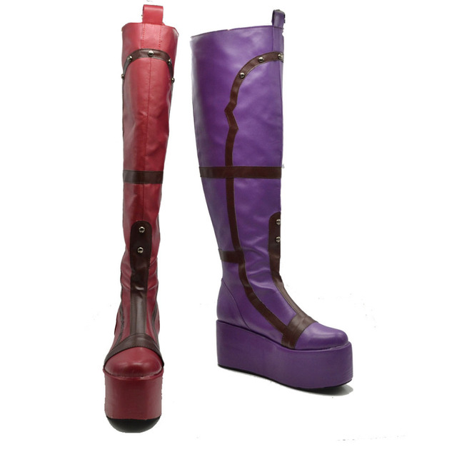 Zapatos Botas Quinn Halloween Cosplay Carnaval Harley qvpzxFwE