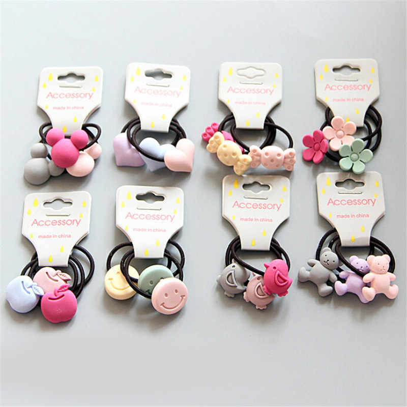 3Pcs/set Cute Princess Headwear Kids Elastic Hair Bands  Girls Hair Ropes Elastic Hair Band Ponytail Holder Free Shiping