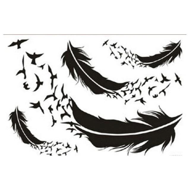 1 Piezas Transferibles Tatuajes Temporales Impermeable Tatuaje Falso