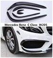 Передний и задний спойлер противотуманная фара Накладка для Mercedes Benz C Class W205 C63 C180 200 260 C300 2015-2018 углеродное волокно и ABS