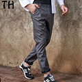 2017 Spring Autumn Casual Pants Men Solid Soft Straight Pocket Trousers Pantalon Homme #162021