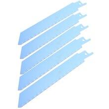 """5 шт. синие биметаллические пильные диски S922BF 150 мм для резки металла, сабельные пильные диски 1/"""", универсальный хвостовик для Bosch"""