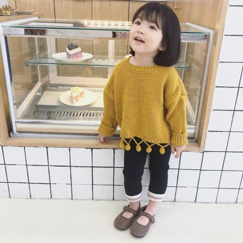 868e0b60b95d Children Sweaters O neck Tassel Girls Knitted Sweater Autumn Winter ...
