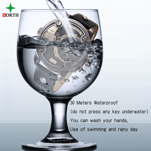 Men Sport Wristwatch Luxury Brand Fashion Men Clock 30M Water Resistant Stainless Steel