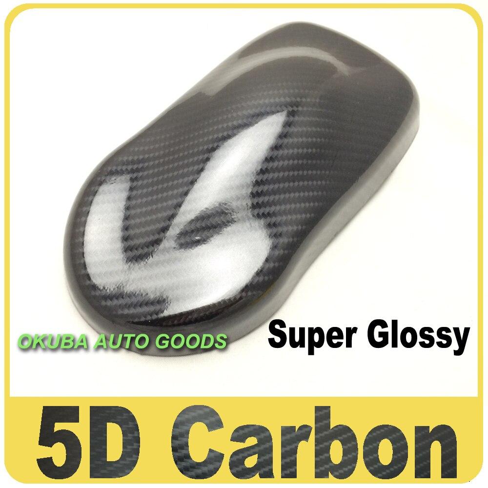 Супер Глянцевая 5D углеродного волокна винил автомобиля Обёрточная бумага фильм с воздушный пузырь Бесплатная Размеры: 1,52x20 м