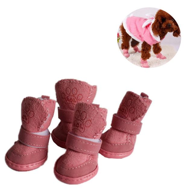 Pet Dog Puppy Winter Warm Cotton Blend Shoes Boots
