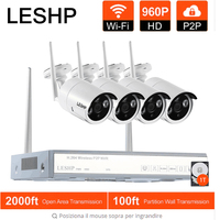LESHP Wireless Security Camera System 4CH 960P HD Video Recorder NVR 4 X 1 3 MP