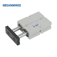 NBSANMINSE TN Bore20mm Double rod cylinder Acting With Magnet Air Pneumatic Cylinder High Quality