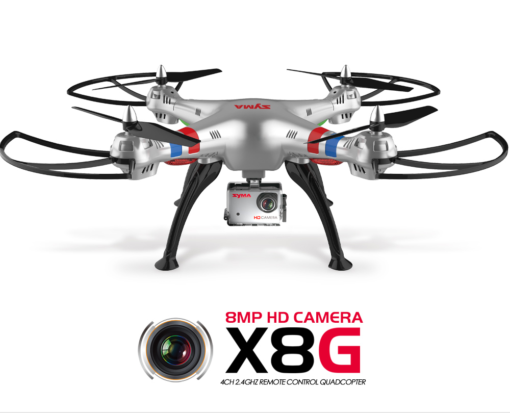 Syma X8c X8g Rc Drone With Camera Hd Dron X8w Wifi Real Time Quadcopter Venture 4ch 24ghz 2 Mp Full White