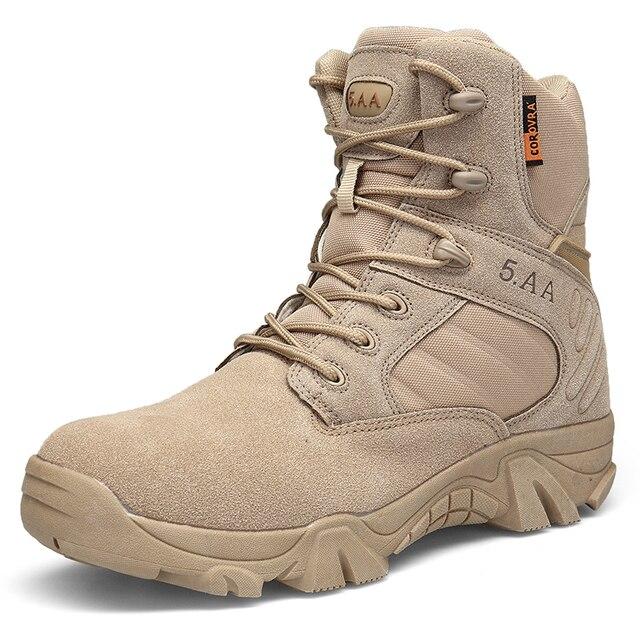 Мужские ботинки для походов на открытом воздухе, сезон осень-зима, с круглым носком, дышащие высокие тактические ботинки, армейские ботинки, обувь для альпинизма для мужчин