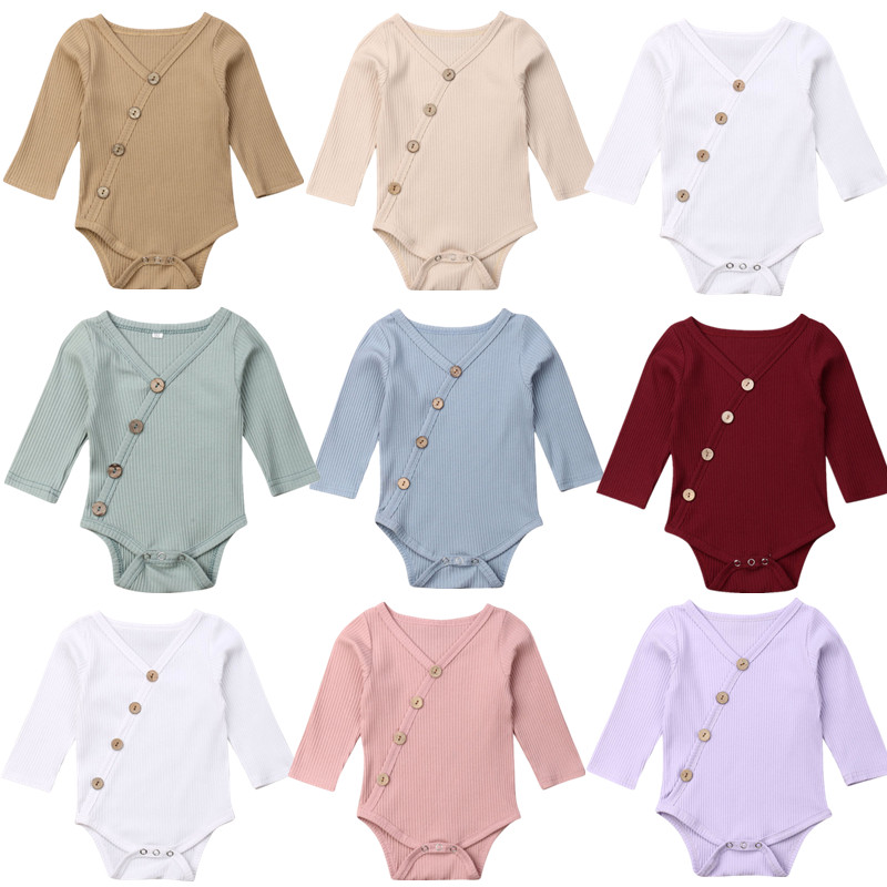 2019 Baby Boy Girl Toddler Newborn Long Sleeve   Romper   Jumpsuit Clothes Outfit 0-24M for Autumn Winter
