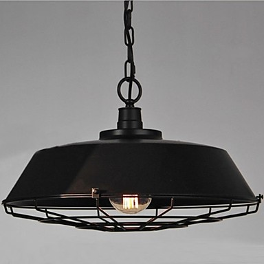 2pcs 60w Retro Loft Style Edison Bulb Vintage Industrial Pendant Lighting Lamp For Home with Black Metal Shade