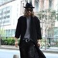 De lino medio-largo manto mantisas cardigan prendas de vestir exteriores delgada zanja masculina delgada
