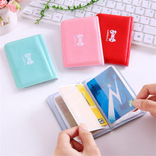 1PCS Candy Color PU Leather on Cover for Car Driving Documents business Card Holder Purse Wallet Case Auto Driver License Bag(China)