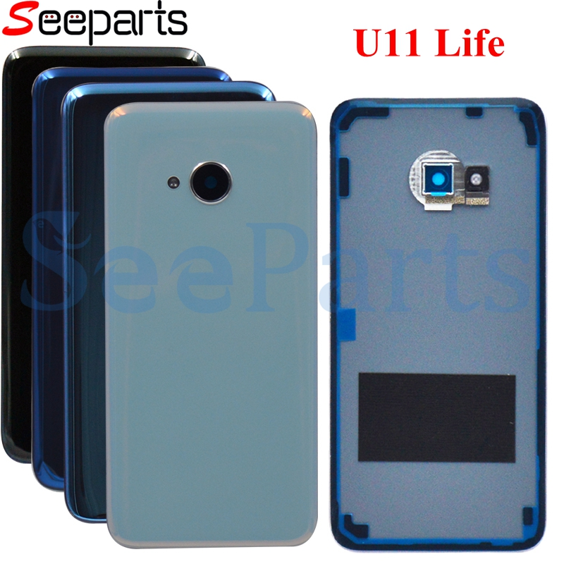 For HTC U11 Life Back Battery Housing Cover With Camera Lens Rear Glass Case Replacement For HTC U11 Lite Back Cover Housing
