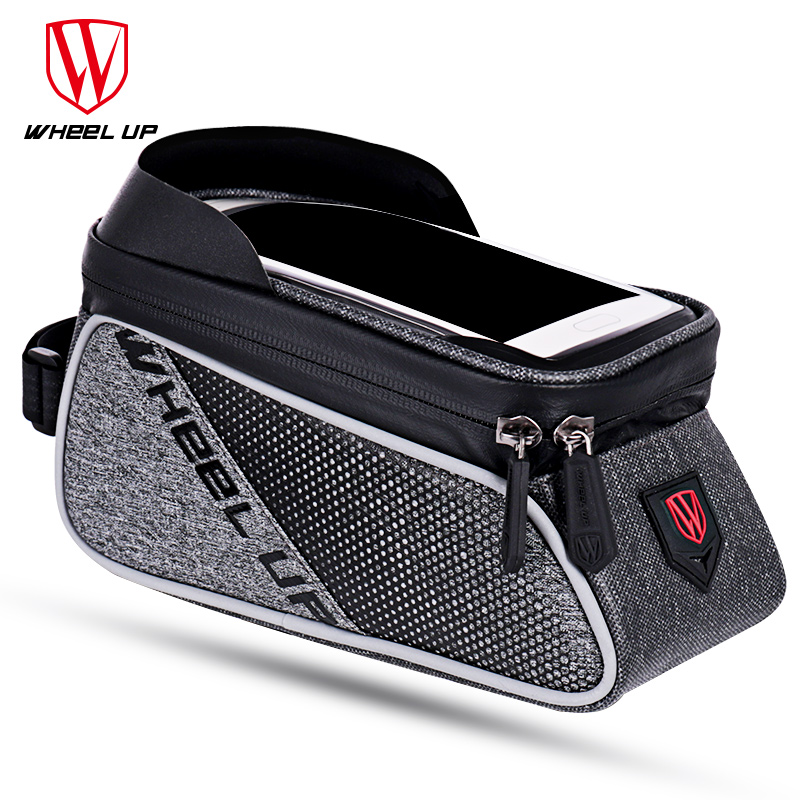 WHEEL UP MTB Road Bicycle Bike Bags Rainproof Touch Screen Cycling Top Front Tube Frame Bags 6.0 Phone Case Bike Accessories