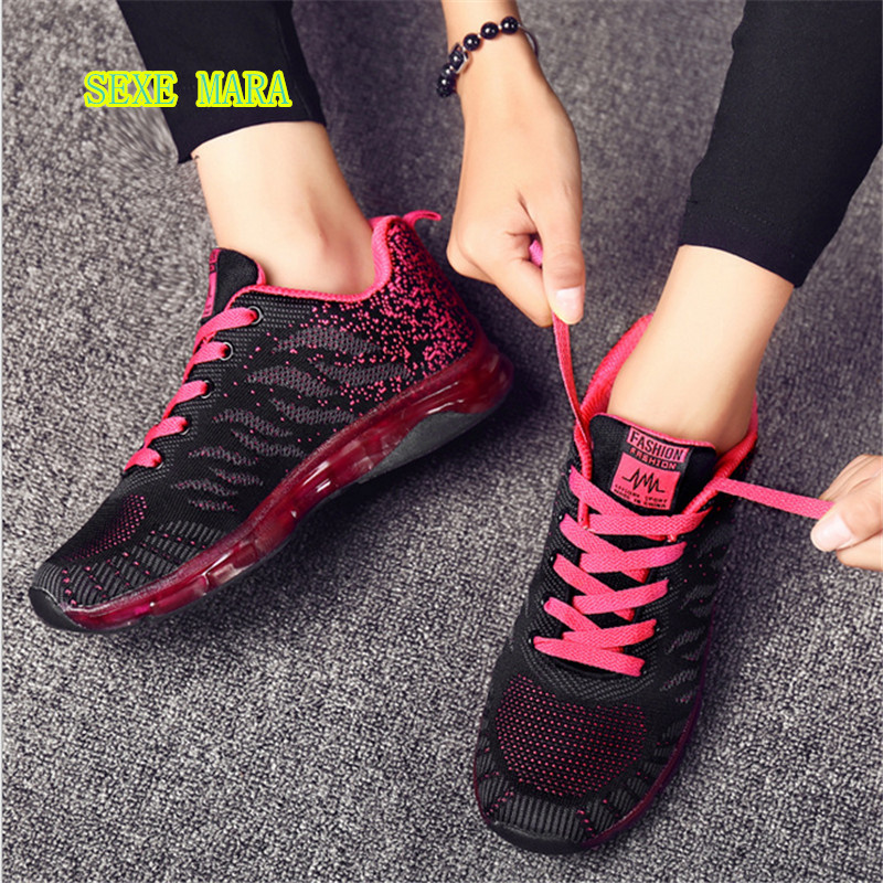 Sneakers Women shoes Sports Air cushion Running Shoes For women zapatillas deporte mujer Trainer Jogging Outdoor Walking shoes new in stock mi 25l ix
