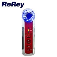 Dispositivo portátil 4 en 1 Ultrasónico Photon Ionic Vibración Masaje de la Terapia de Luz Led Cara de Limpieza Cuidado de La Piel Facial Masajeador