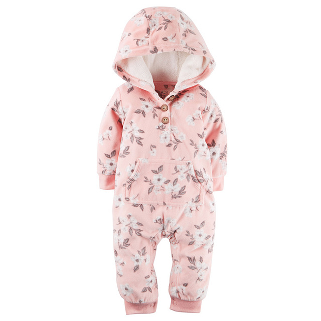 2020 Spring Fall Warm Infant Baby Rompers Coral Fleece Animal Overall Baby Boy Gril Halloween Xmas Costume Clothes Baby jumpsuit 3