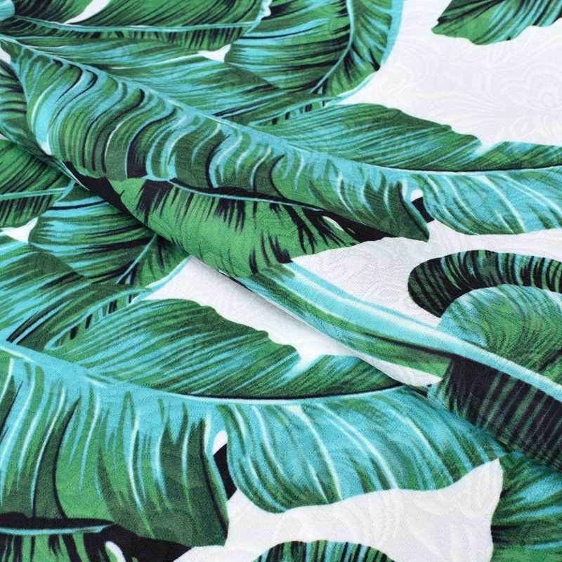 Ширина 145 см банан жаккард с рисунком в виде листьев парчи плюшевая ткань для пальто платье tissu au metre tecido метро дешевые ткани потертый шик DIY