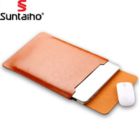 PU Leather For MacBook Air Pro Retina 11 12 13 15 Inch Laptop Bag Case Sleeve