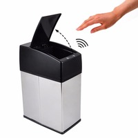 3L 6L Mini Stainless Steel Garbage Touchless Automatic Car Dustbin Small Kitchen Sensor Trash Can Table