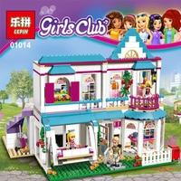 622Pcs Genuine Good Friend Girls Series Lepin 01014 The Stephanie S House Set Building Blocks Bricks