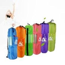 Yoga Backpack Yoga Mat Bag Waterproof Backpack Yoga Bag Nylon Pilates Carrier Mesh Adjustable Strap Sports Bag With Side Pocket недорого
