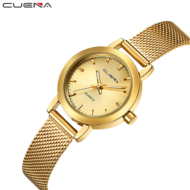 CUENA Fashion Ladies Watches Top Brand Luxury Women Quartz Watch Gold Dress Waterproof Wristwatches Relogio Feminino Reloj Mujer top ochstin brand luxury watches women 2017 new fashion quartz watch relogio feminino clock ladies dress reloj mujer