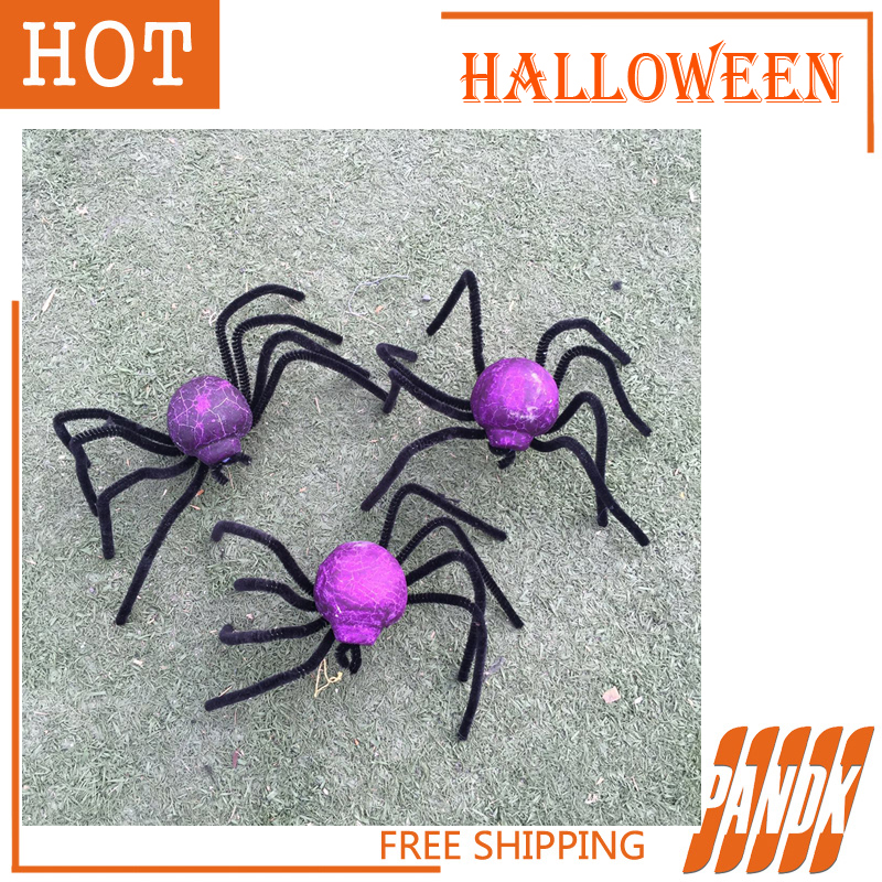 poseable color halloween spider holiday halloween props haunted house halloween decorations ideas party yard free shipping